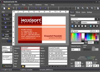 Mojosoft BusinessCards MX 4.91