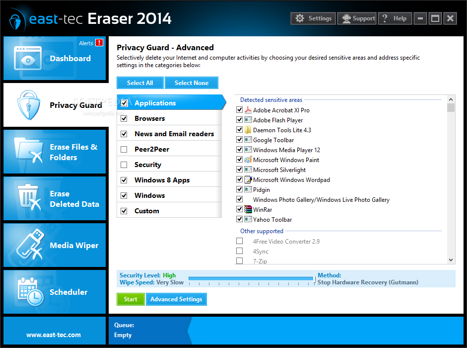 دانلود نرم افزار East-Tec Eraser حذف کامل اطلاعات شخصی