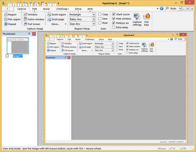 دانلود نرم افزار عکس برداری از صفحه نمایش HyperSnap Portable
