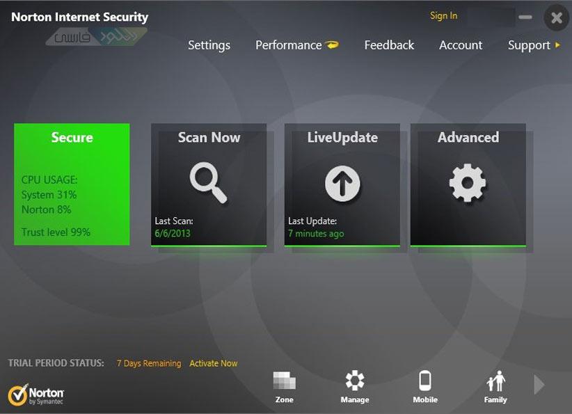 ویروس Norton Antivirus and Internet Security 2014 نورتون