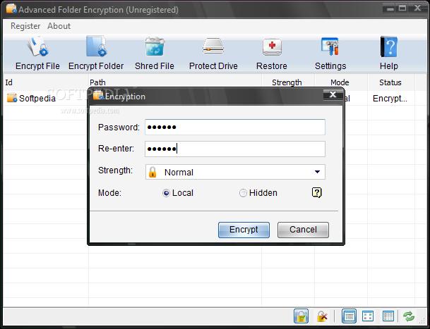 دانلود نرم افزار رمز گذاری فایل و پوشه Advanced Folder Encryption 6.70