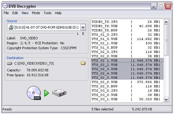 دانلود نرم افزار DVD Decrypter کپی کردن دی وی دی رمز دار