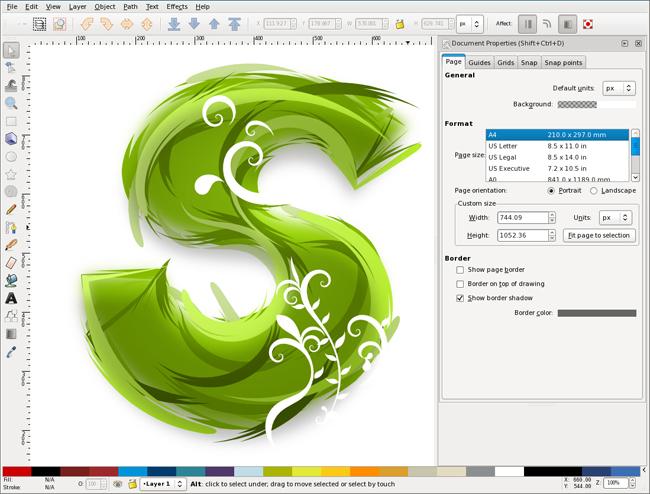 دانلود نرم افزار طراحی و ویرایش تصاویر Inkscape 0.48.4