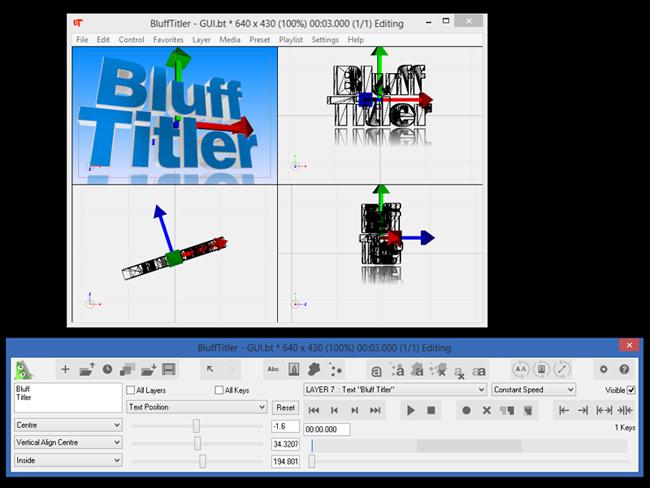 دانلود نرم افزار ساخت نوشته های سه بعدی BluffTitler 12.0.2