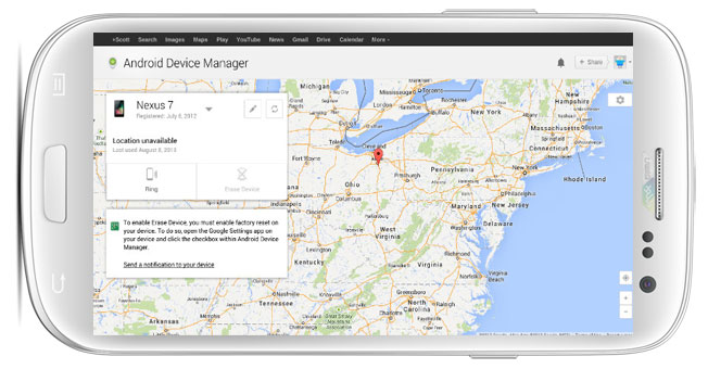دانلود برنامه ی Android Device Manager ردیابی گوشی گمشده برای اندروید