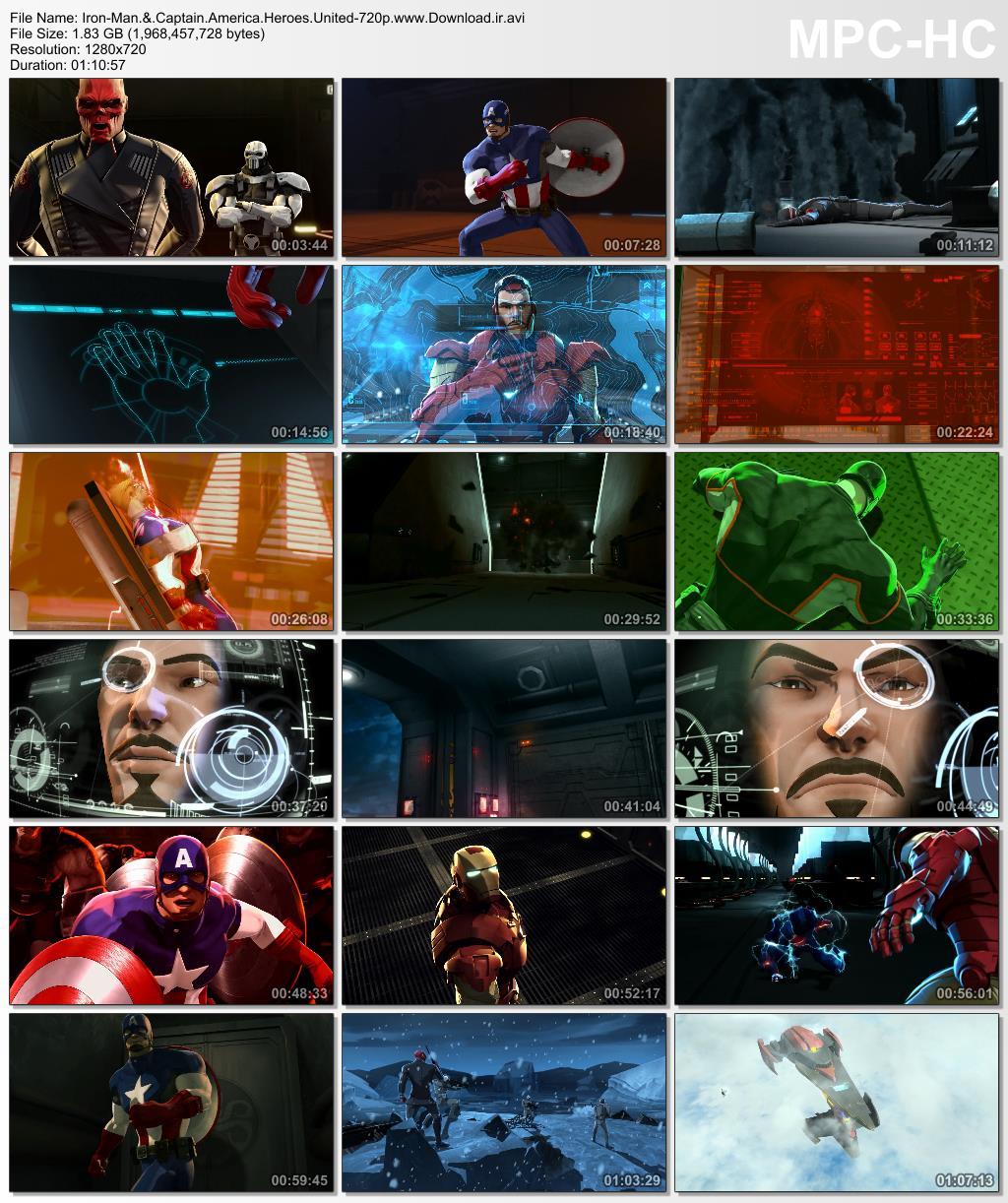 دانلود کارتون انیمیشن Iron Man & Captain America: Heroes United