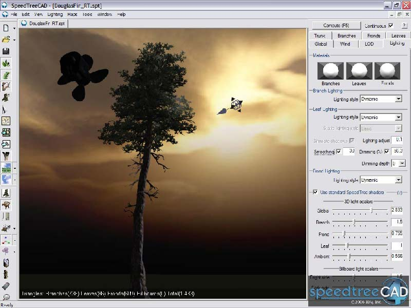 SpeedTree 4.1 for 3Dsmax + SpeedTree Libraries (standart and expanded) .