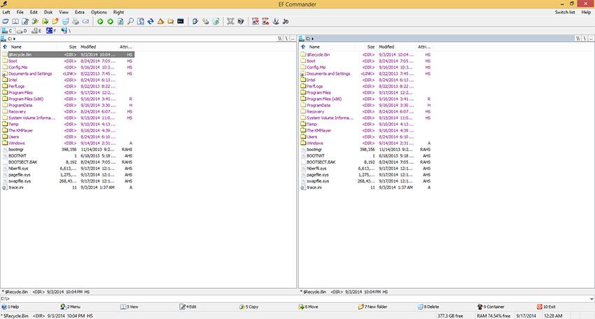 دانلود نرم افزار EF Commander مدیریت فایل ها در ویندوز