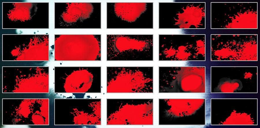 دانلود سمپل های MotionVFX mSplatter جلوه های ویژه خون جوهر لکه