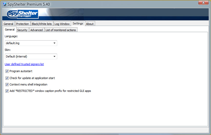 دانلود نرم افزار SpyShelter Premium ضد جاسوسی