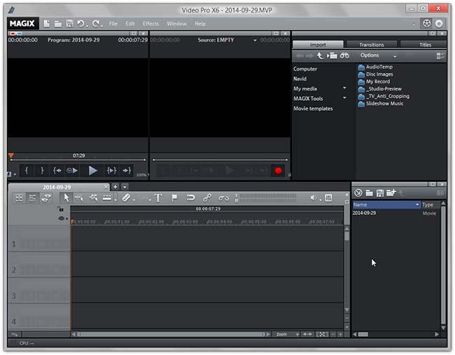دانلود نرم افزار MAGIX Video Pro X6 ویرایش فیلم