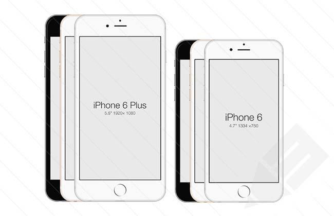 دانلود طرح های لایه باز iPhone 6 و iPhone 6 Plus با فرمت PSD