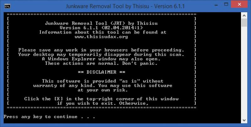 دانلود نرم افزار Junkware Removal Tool پاکسازی تولبارهای ناخواسته