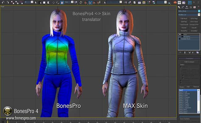دانلود نرم افزار 3D-IO BonesPRO پلاگین ریگ و استخوان بندی تری دی مکس