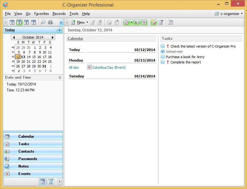 دانلود نرم افزار C-Organizer Professional مدیریت اطلاعات شخصی