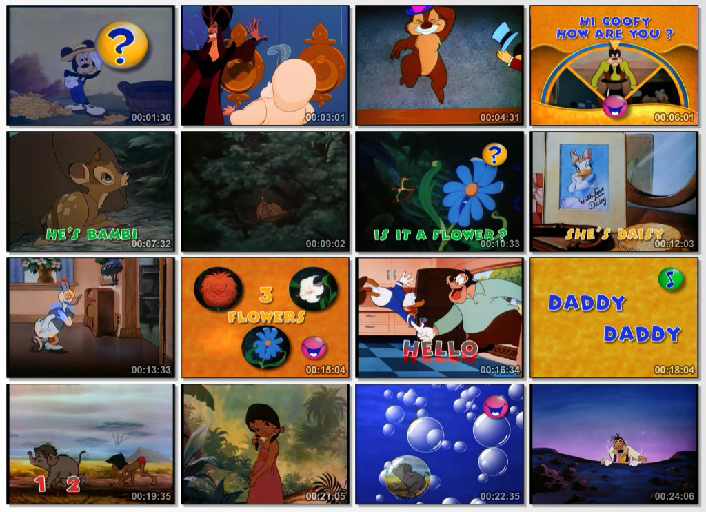 Disneys Magic English - Screen