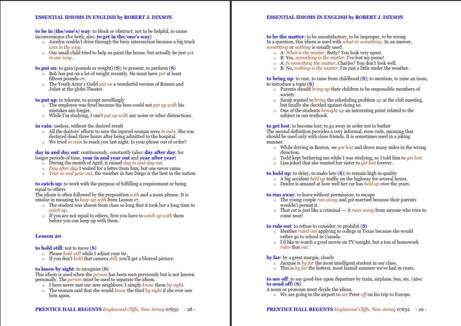 دانلود کتاب Essential Idioms In English اصطلاحات ضروری انگلیسی