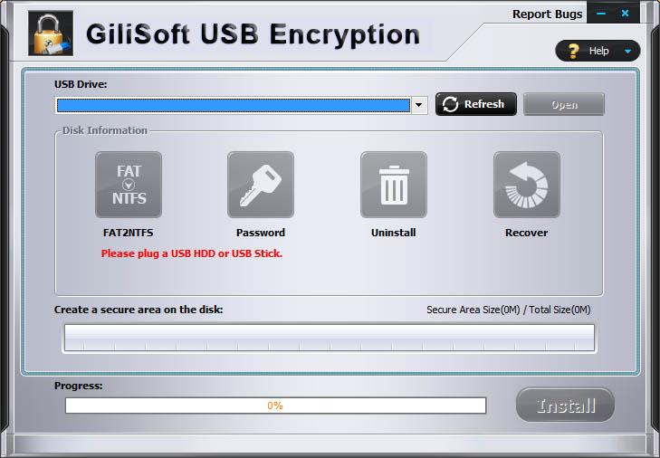 دانلود نرم افزار GiliSoft USB Encryption قفل گذاری بر روی فلش مموری