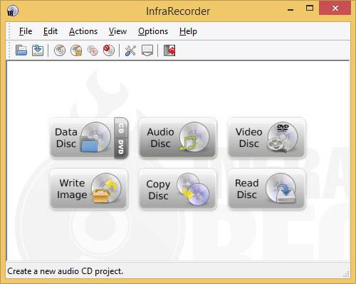 دانلود نرم افزار InfraRecorder رایت CD و DVD