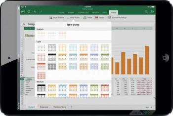 دانلود نرم افزار Microsoft Excel برای آیپد