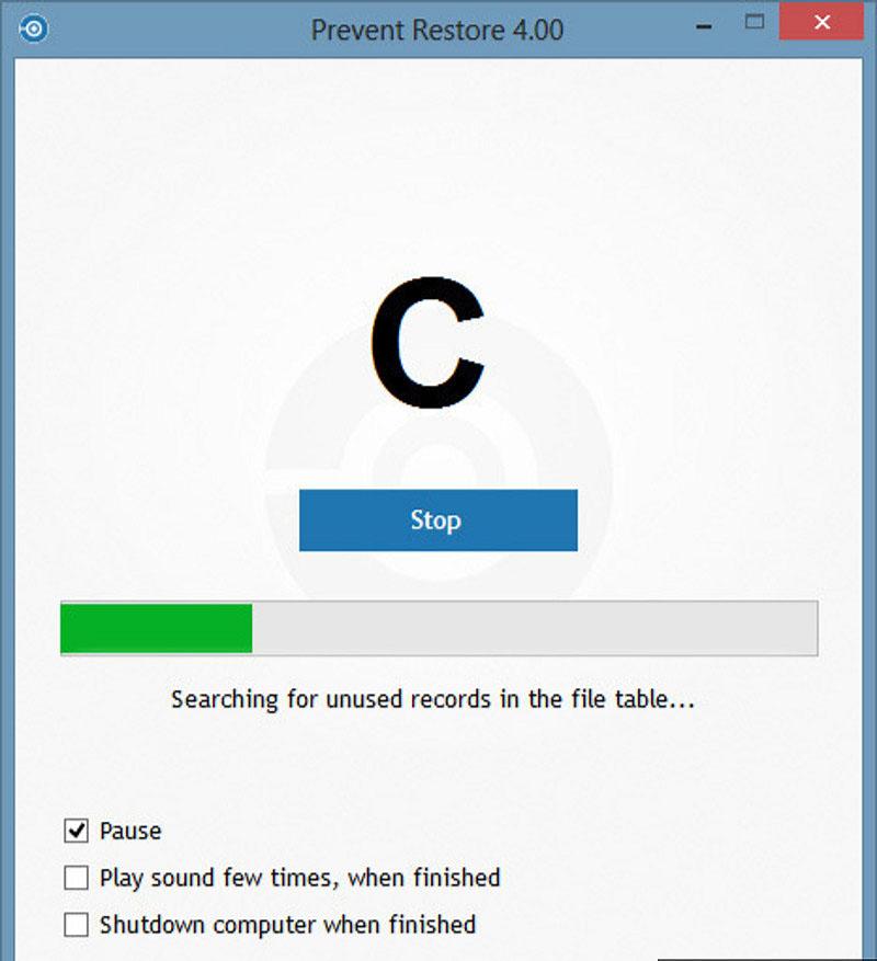 دانلود نرم افزار Prevent Restore جلوگیری از ریکاوری اطلاعات