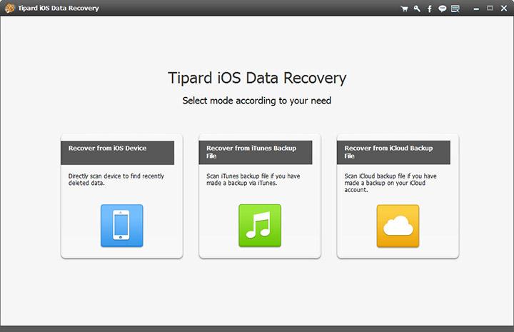 دانلود نرم افزار Tipard iOS Data Recovery بازیابی فایل از iOS