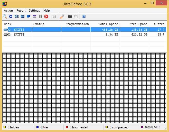 دانلود نرم افزار UltraDefrag یکپارچه سازی فضای هارد