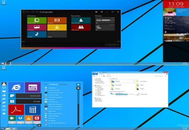 دانلود نرم افزار تغییر محیط ویندوز xp ، vista ، 7 و 8 به ویندوز 10