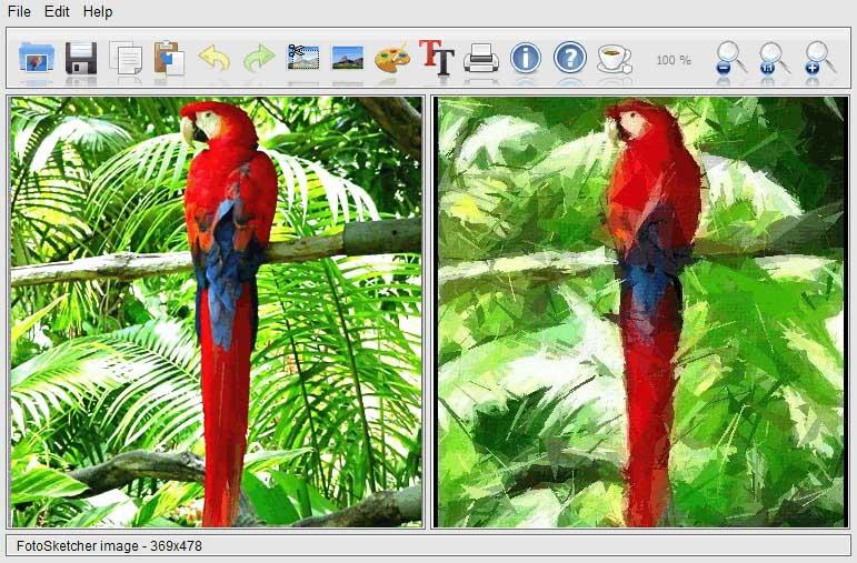 دانلود نرم افزار FotoSketcher تبدیل عکس به نقاشی