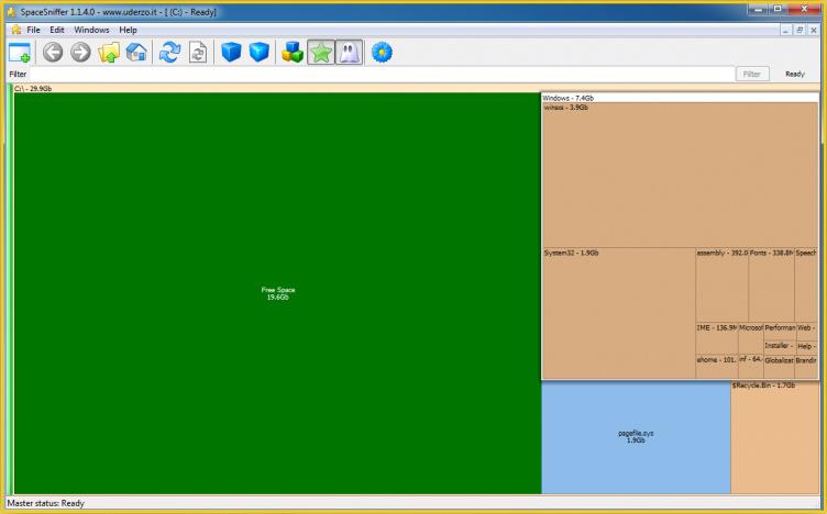 دانلود نرم افزار SpaceSniffer تحلیل گر فضای هارد دیسک