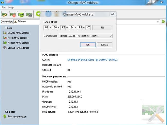 دانلود نرم افزار Change MAC Address تغییر آدرس مک دیوایس