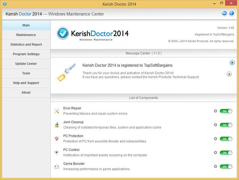 دانلود نرم افزار Kerish Doctor مراقبت و بهینه سازی ویندوز