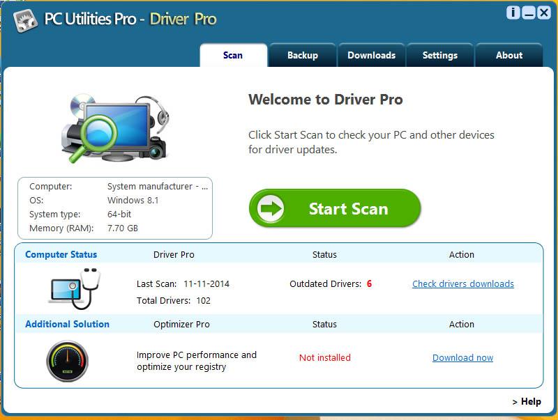 دانلود نرم افزار PC Utilities Pro Driver Pro آپدیت درایورها