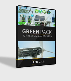 Pixel.Lab.green-pack.For.C4D.www.Download.ir