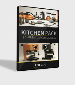 Pixel.Lab.kitchen-pack.For.C4D.www.Download.ir