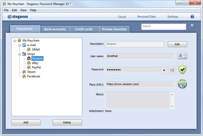 دانلود نرم افزار Steganos Password Manager مدیریت پسوردها