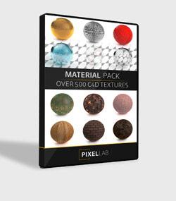 دانلود مجموعه The Pixel Lab - C4D Models And Materials مدل های سه بعدی