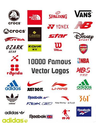 دانلود مجموعه 10000 Famous Vector Logos
