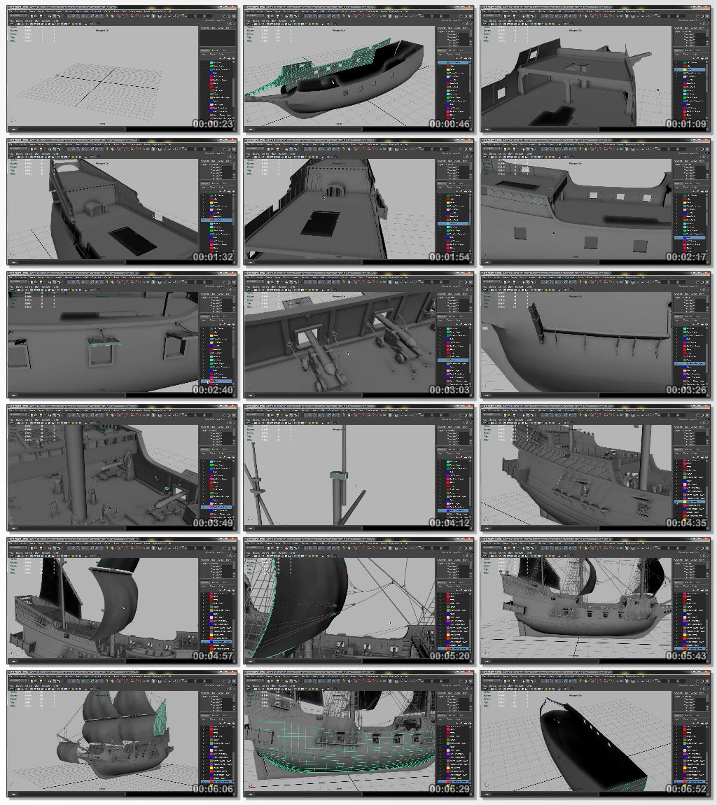 Digital.Tutors-Modeling.a.Detailed.Ship.in.Maya.www.Download.ir