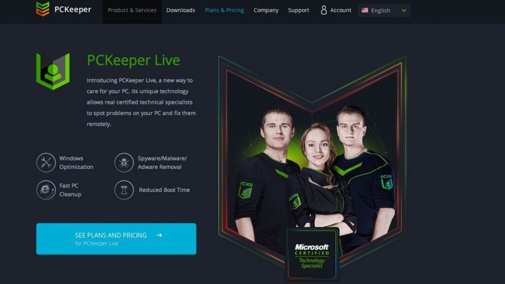 PCKeeper Live Screen