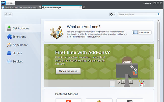 comodoicedragonfirefox.Screenshot5.www.Download.ir