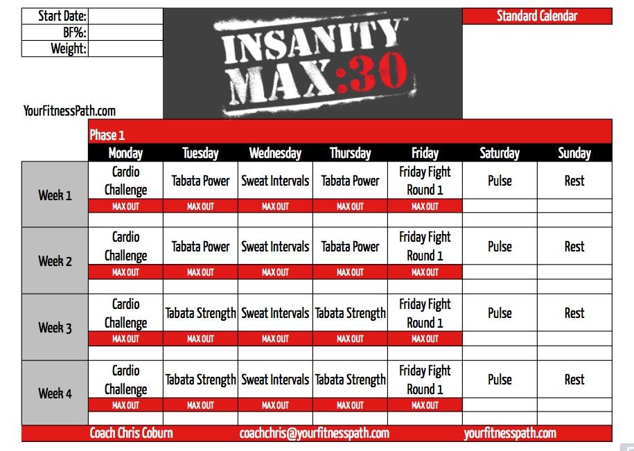 دانلود سری کامل Insanity MAX 30 - Workout