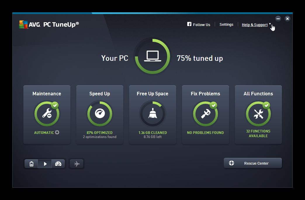 دانلود آخرین نسخه نرم افزار AVG PC Tuneup بهینه ساز ویندوز