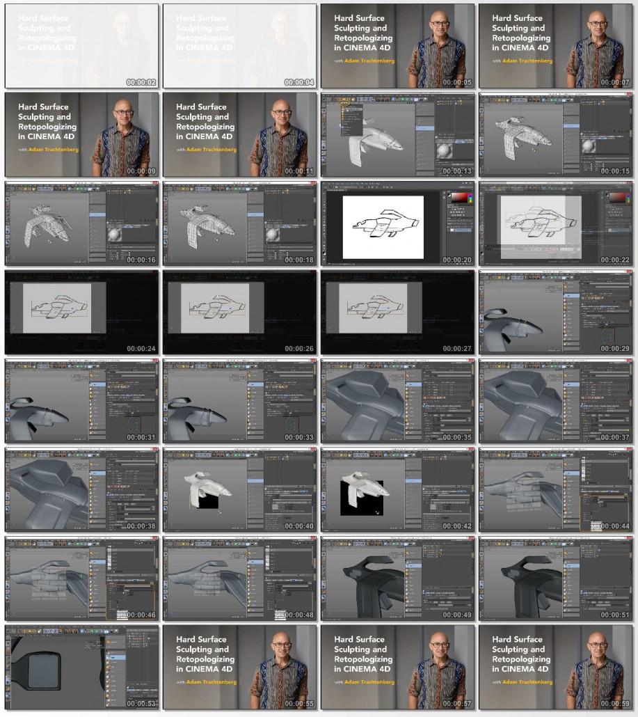 Lynda-Hard.Surface.Sculpting.and.Retopologizing.in.CINEMA.4D.www.Download.ir