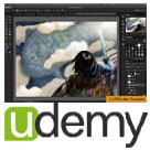 Udemy-Digital.Painting.Fundamentals.in.Photoshop.5x5.www.Download.ir