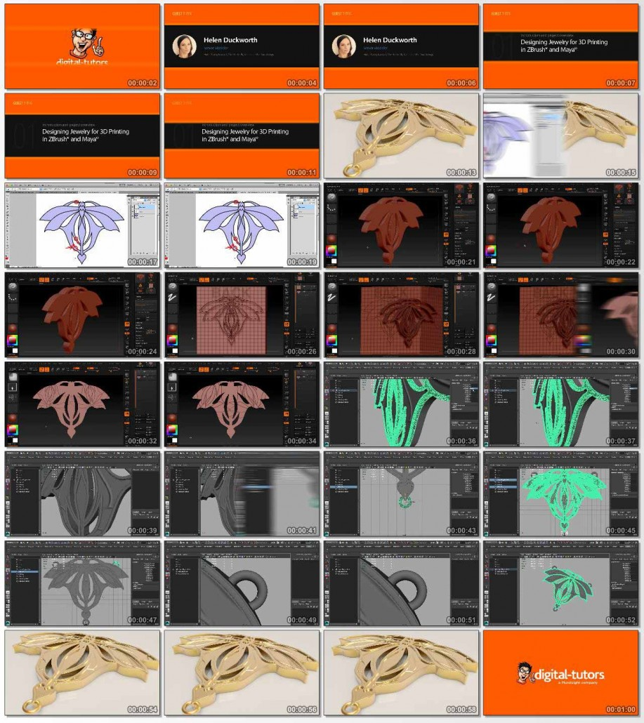Designing Jewelry for 3D Printing in ZBrush and Maya