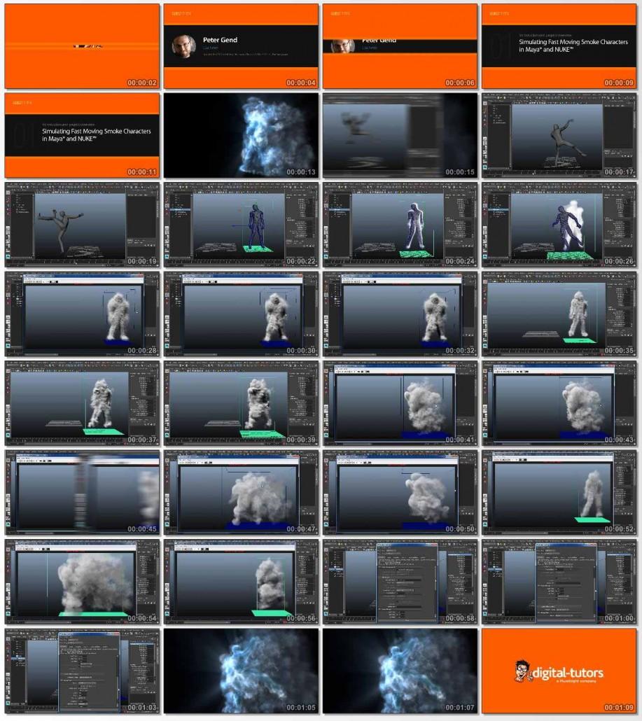Simulating Fast Moving Smoke Characters in Maya and NUKE