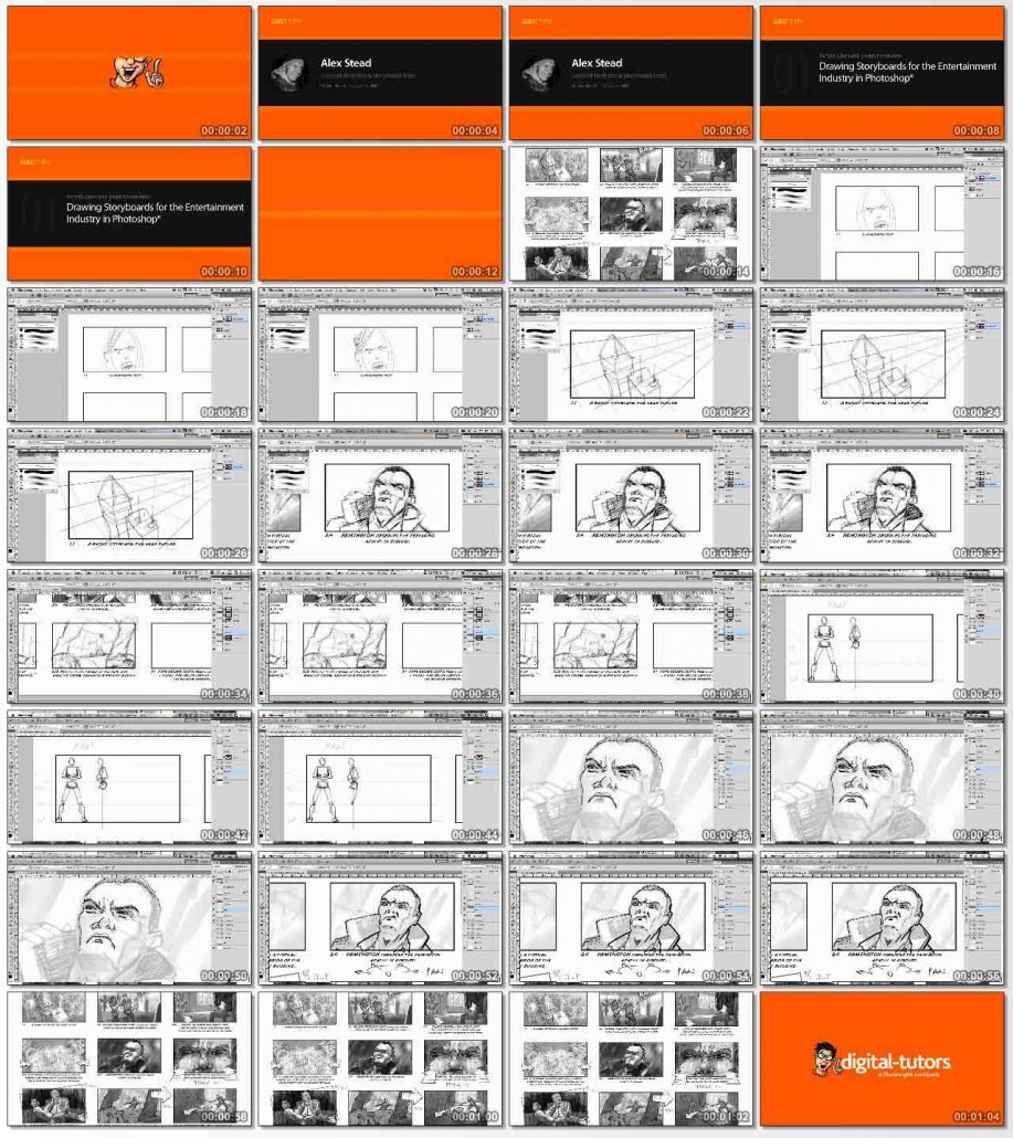 Drawing Storyboards for the Entertainment Industry in Photoshop