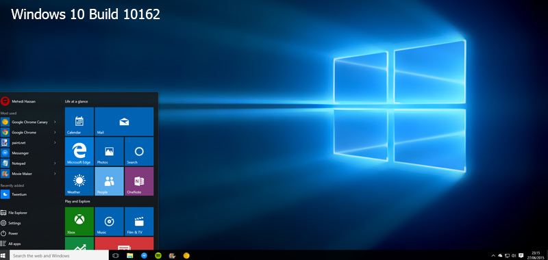 ویندوز WIndows 10 Build 10162