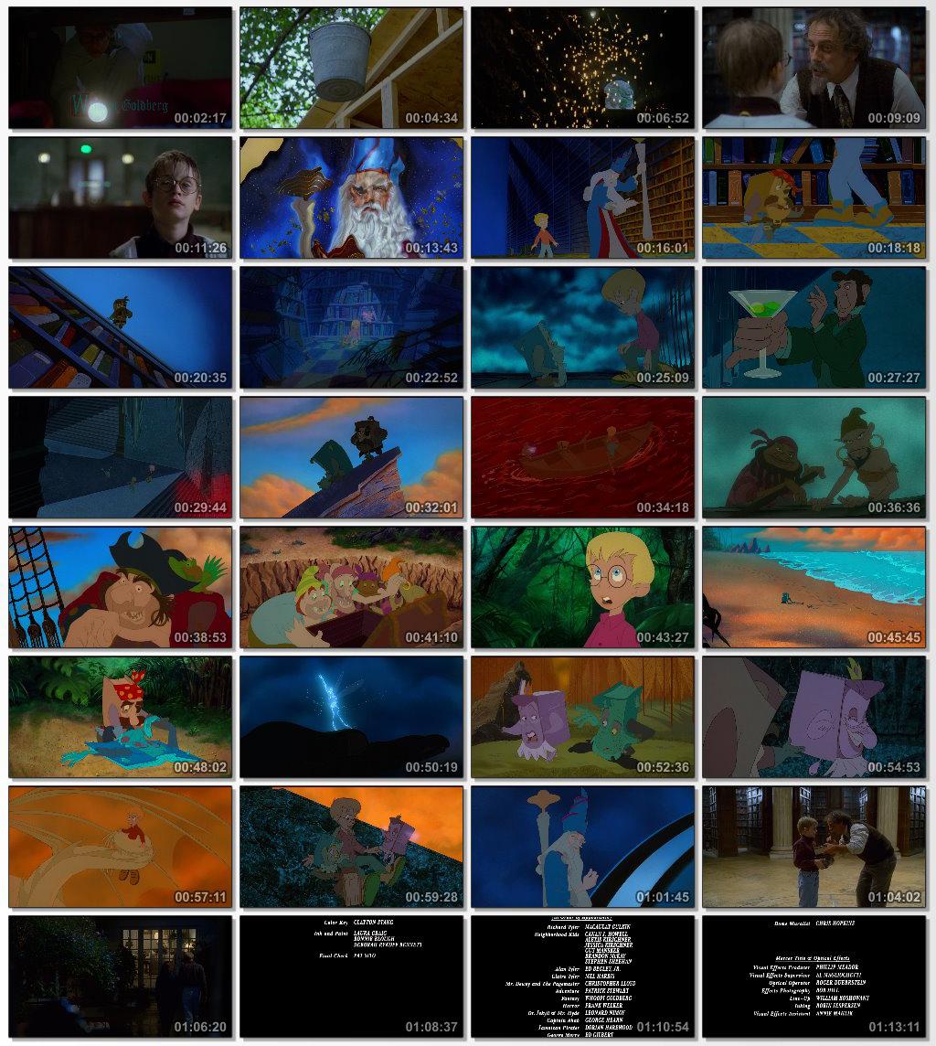 دانلود انیمیشن کارتونی The Pagemaster 1994